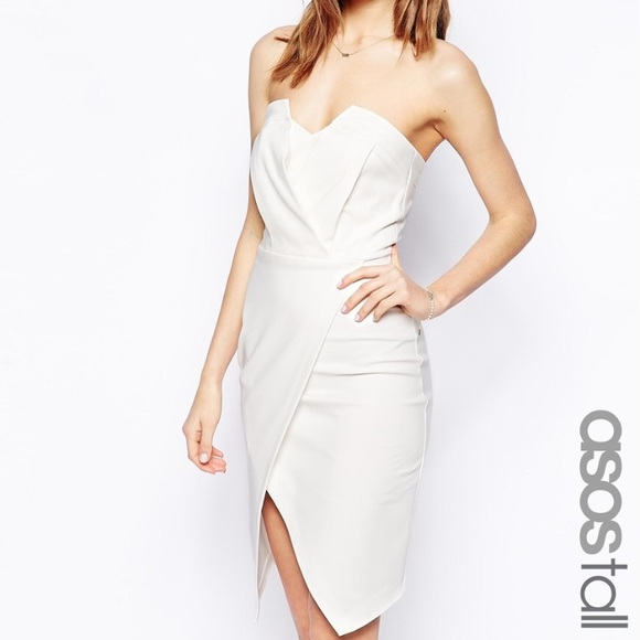 1db000a6b6 New ASOS bandeau wrap dress size 0