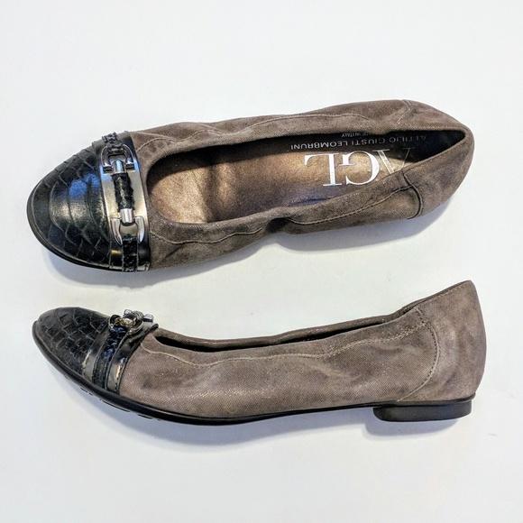 40a40ddc970 AGL Shoes - AGL Attilio Giusti Leombruni Cap Toe Ballet Flats