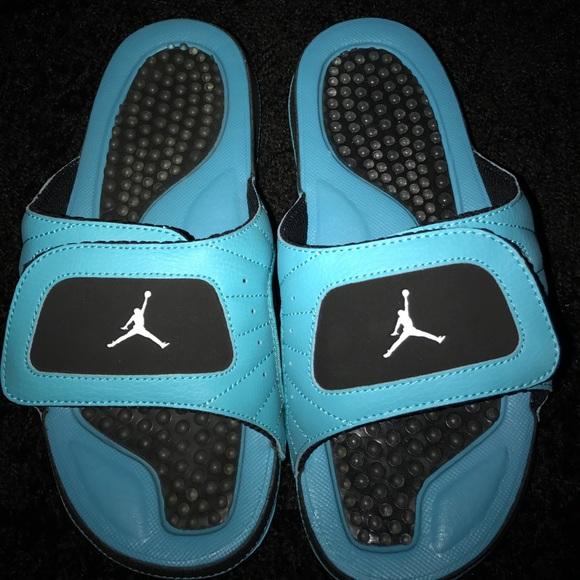 f6fac6402e3c1f Air Jordan Other - Blue and Black Jordan Slides