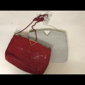 Handbags - 2 Whiting and Davis Style Clutches with Long Strap