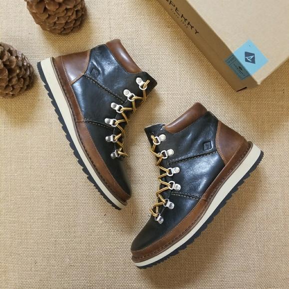 Nwt Sperry Mens Dockyard Alpine Leather
