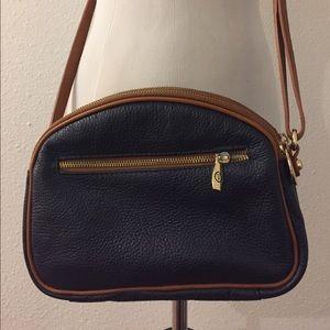 Vintage Valentina Cross Body Navy Leather Purse