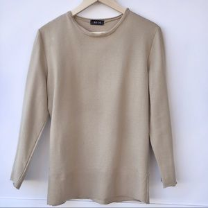 Tan/camel 3/4 sleeve French Terry Top