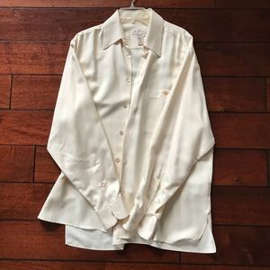 Zegna 100% Silk Button Front