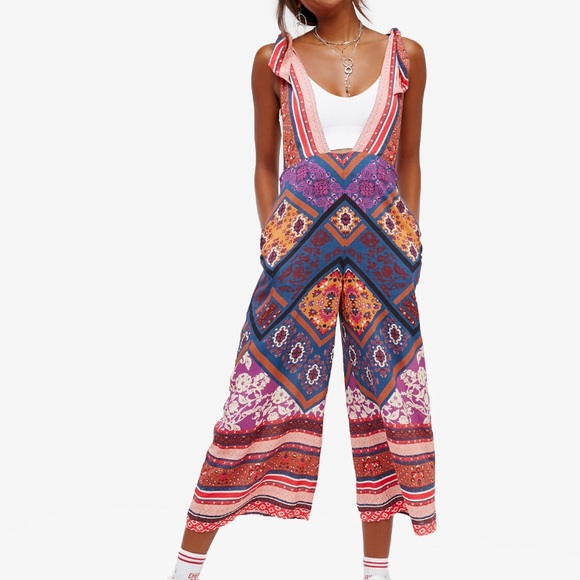 cd185a02164 NWT Free People maritzah printed jumpsuit