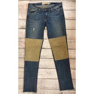 Free People artisan de luxe jeans knee patch 28