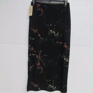 Cherokee Black Floral Skirt NWT Size Medium