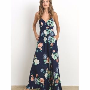 1fbf316a1101 NEW Floral Printed Open Back Maxi Dress