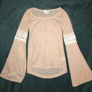 LA Hearts XSmall long sleeve top with wide sleeves