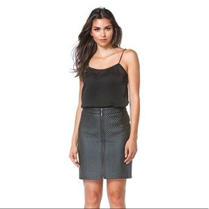 The Kara Vegan Leather Skirt
