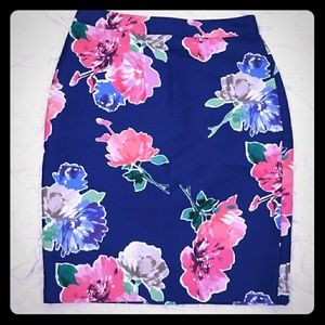 Kate Spade New York Blooms Floral Pencil Skirt