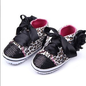 Other - Toddler Girl Leopard Print Sequined Sneaker