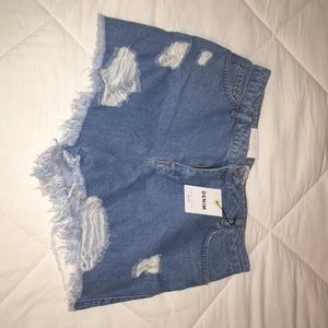 New Look Distressed Denim shorts