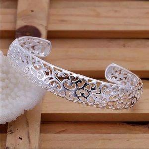 Jewelry - Silver Scroll Cut Out Adjustable Cuff Bracelet