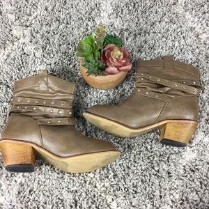 Wild Diva Tan Short Boots