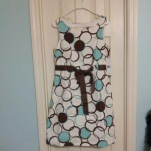 Aqua and Brown dress