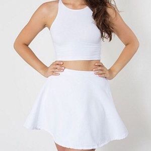 American Apparel Women's White Denim Circle Skirt