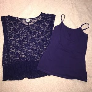 Ariat purple lace top and cami
