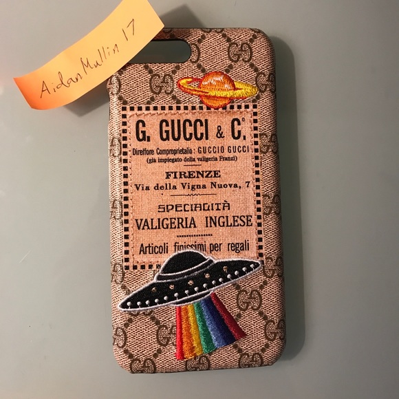 purchase cheap cf55c 495f5 Gucci Courrier iPhone 7 Plus Case