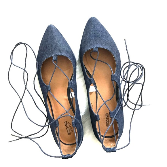 Mossimo Supply Co. Shoes - Denim Lace-up Flats