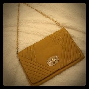 Miztique Mustard Clutch