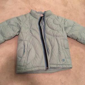 Fleece lined puffy jacket.