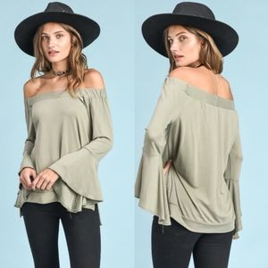 MARISSA Off Shoulder Top - SAGE