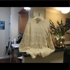 Sweaters - ALPACA women's bell sleeve sweater (hand crochet)