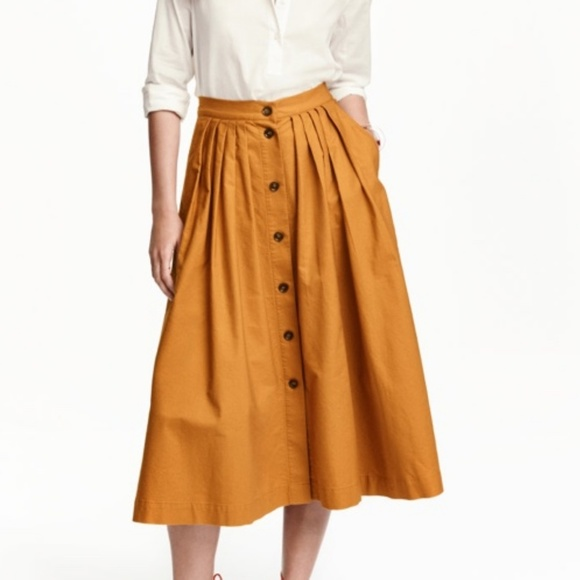 8ef47ff3c9 H&M Dresses & Skirts - H&M Wide Cotton Skirt