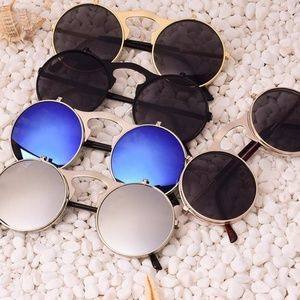 Accessories - VINTAGE STEAMPUNK Sunglasses round Designer