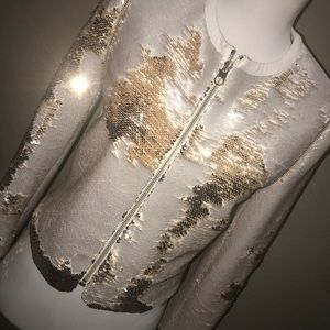 94222b0f31bfee Ted Baker Jackets   Coats - TED Baker BLUBELE Sequin Gold Jacket Size 0