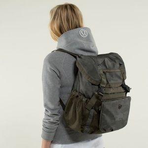 EUC Lululemon Camo Yogini Rucksack Backpack
