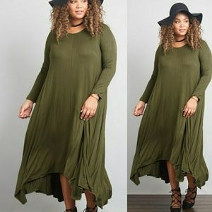Dresses & Skirts - 🌟HOST PICKPlus Size 3/4 Sleeve Maxi Dress🌟