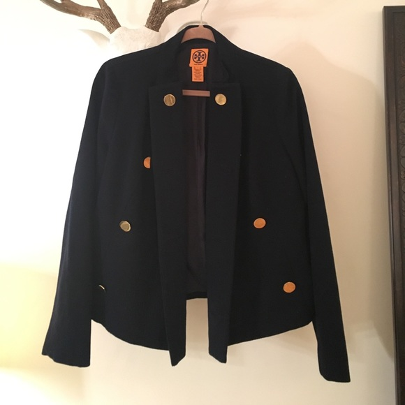 129b70cb94e Tory Burch Navy Wool Band Coat with Gold Buttons.  M 5a03c75f13302ae60a015ad6. Other Jackets   Coats ...