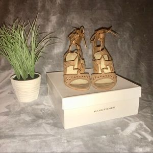 Marc Fisher Suede Lace-Up Sandals
