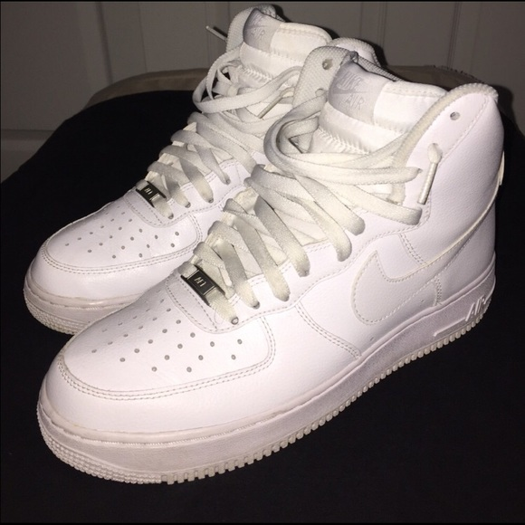 new product e7703 0ce48 Nike Air Force 1 high top white white mens size 9.  M 5a03cf282ba50a50f0019a2f