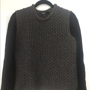 Cut25 By Yigal Azrouël Gray and Black Sweater