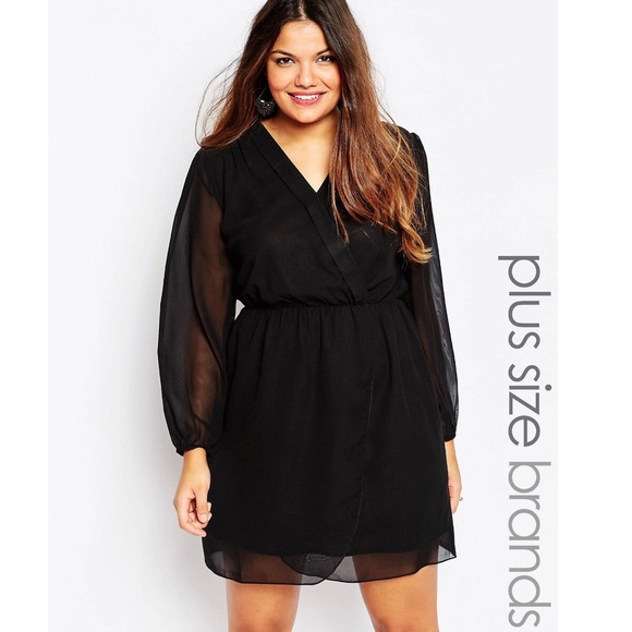 Asos Curve Dresses Ax Paris Wrap Dress Poshmark