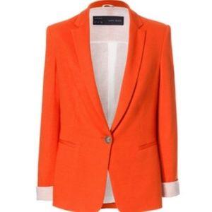 Beautiful Zara Orange Blazer size Large