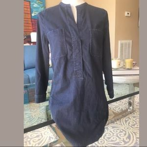 Vince denim 3/4 sleeve dress 4 Perfect
