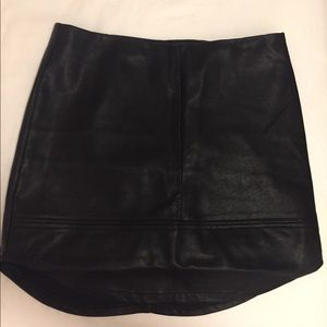Black Faux Leather Mini Skirt from Nasty Gal
