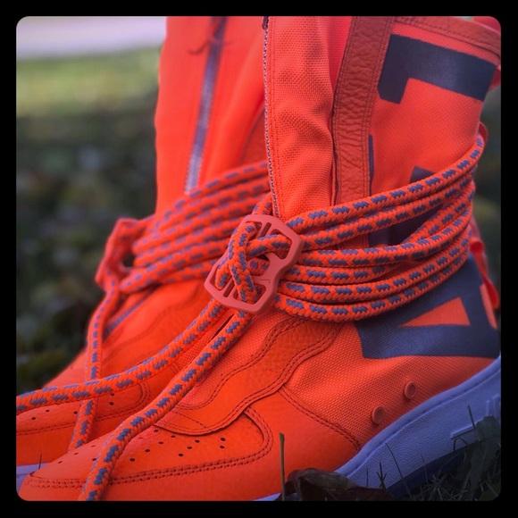 nike airforce sf 1 hi orange Shoes