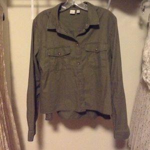 BP Navy Green Shirt Jacket