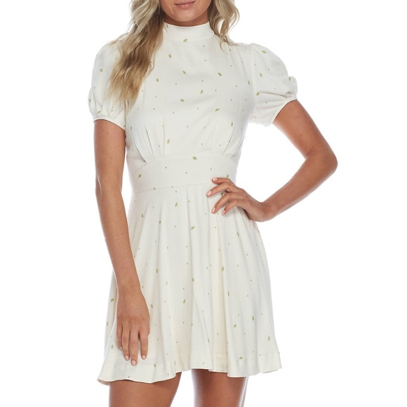 Free People Dresses & Skirts - Free People Abbie printed mini dress-ivory-size 12