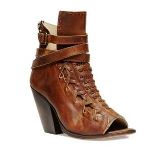 STEVE MADDEN FREEBIRD Leather Open Toe Eagle Boots