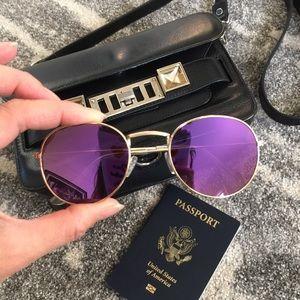 Accessories - Mirrored Purple Fashion Sunglasses