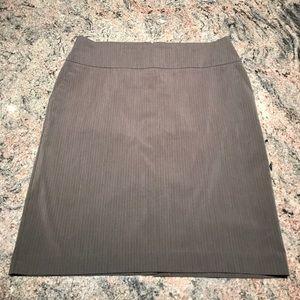 Metaphor 18 grey pinstripe pencil skirt