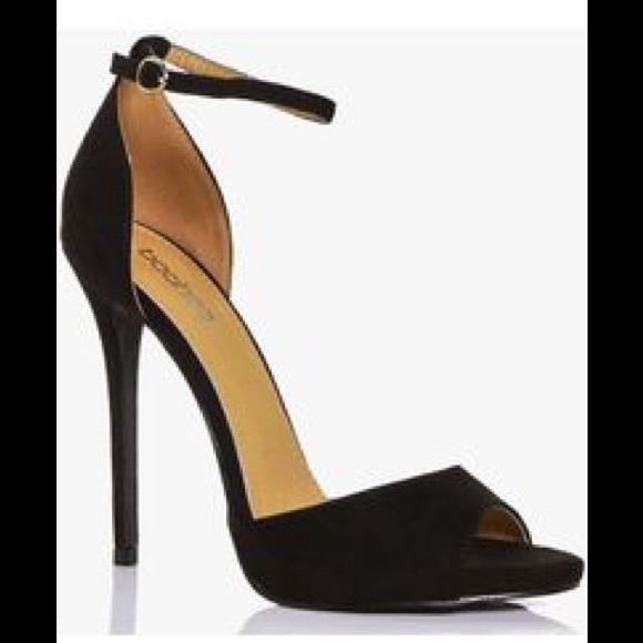 76f458e0e28f Boohoo peep toe ankle strap heels