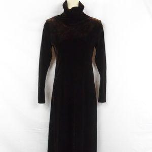 Brown Velvet Maxi Dress