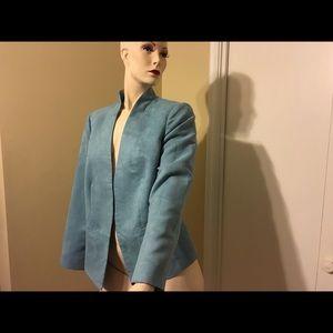 Jackets & Blazers - Chico's Faux Suede Front Open Blazer Jacket Size 1